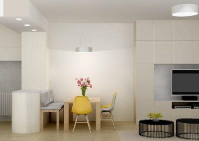 Realizace návrhu obývacího pokoje a kuchyně
